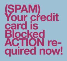 (Spam) Blocked! (Magenta type) by poprock