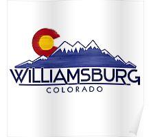 Williamsburg Colorado wood mountains Poster