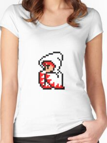 pixel white mage Women's Fitted Scoop T-Shirt