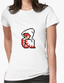pixel white mage Womens Fitted T-Shirt