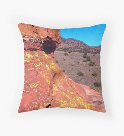 Lichen, Juniper, & Supai Sandstone #1 Throw Pillow
