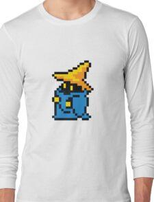 pixel black mage Long Sleeve T-Shirt