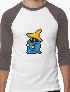 pixel black mage Men's Baseball ¾ T-Shirt