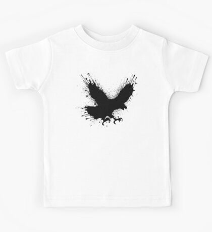 Abstract splashes of color - Street art bird (eagle / raven) Kids Clothes