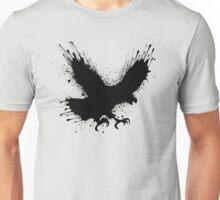 Abstract splashes of color - Street art bird (eagle / raven) Unisex T-Shirt