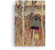 Brick Works Birdhouse Canvas Print