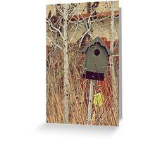 Brick Works Birdhouse Greeting Card