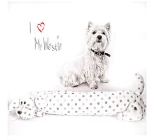 "Pet Pad Collection  ""I Love My Westie"" by Love Through The Lens"