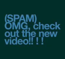 (Spam) OMG video! (Cyan type) T-Shirt