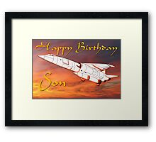 TSR2 - Happy Birthday Son card Framed Print