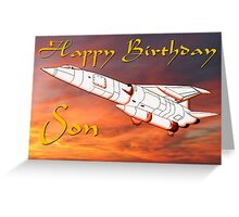 TSR2 - Happy Birthday Son card Greeting Card