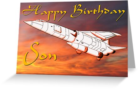 TSR2 - Happy Birthday Son card by Dennis Melling