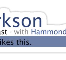 Clarkson- Stig Likes This Sticker