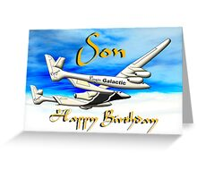Virgin Galactic - Space Tourists - Happy Birthday Son card Greeting Card