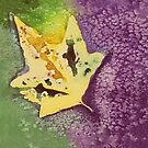 Cool Leaves Watercolor by Angelica Farber