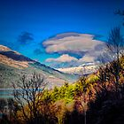 A peak over Loch Long by Bob Noble