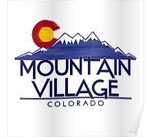Mountain Village Colorado wood mountains Poster