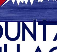 Mountain Village Colorado wood mountains Sticker