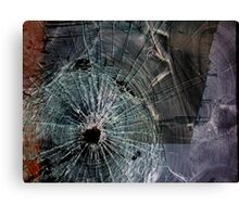 Bullet Hole Landscape Abstract Canvas Print