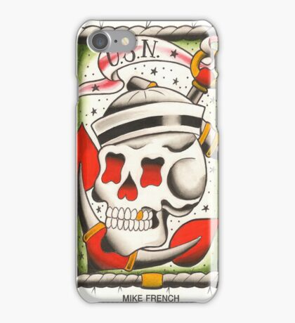 Navy Skull and Anchor iPhone Case/Skin