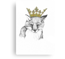 Crowned Fox Canvas Print