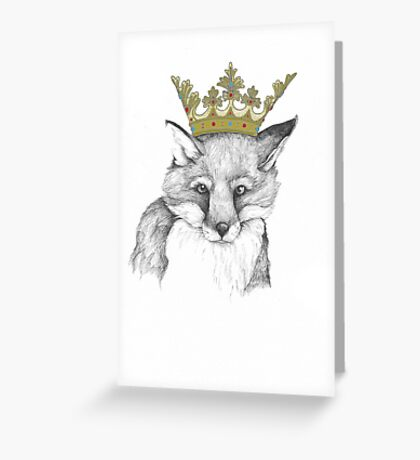 Crowned Fox Greeting Card
