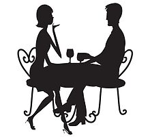 Couple Silhouette by Maria Bell