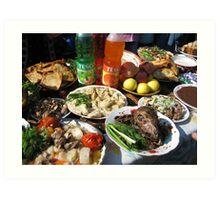 Traditional Foods at Spring Celebration Art Print