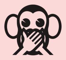 3 Wise Monkeys Iwazaru 言わざる Speak NO Evil Emoji One Piece - Long Sleeve