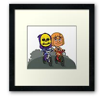 Skeletor & He-Man Framed Print