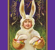 Easter Card-Child in Bunny Suit by Yesteryears