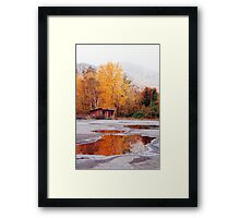 Multi-Colored Mud Puddle Framed Print