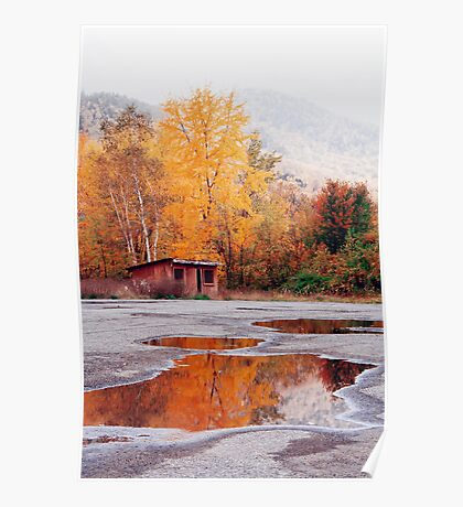 Multi-Colored Mud Puddle Poster