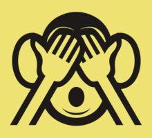 3 Wise Monkeys Mizaru 見ざる See NO Evil Emoji Baby Tee