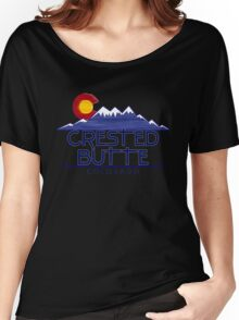 Crested Butte Colorado wood mountains Women's Relaxed Fit T-Shirt