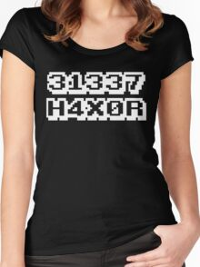 31337 H4X0R Women's Fitted Scoop T-Shirt