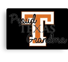 Proud Texas Grandma 2 for Dark Backgrounds Canvas Print