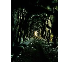 Abandoned Train Tunnel Photographic Print