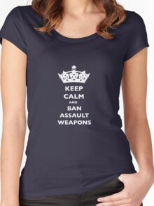 BAN ASSAULT WEAPONS T-SHIRTS Women's Fitted Scoop T-Shirt