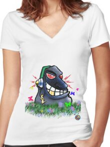 Easter Head!! Women's Fitted V-Neck T-Shirt