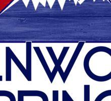 Glenwood Springs Colorado wood mountains Sticker