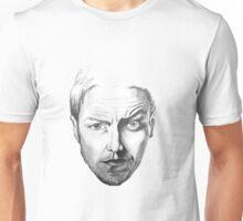 James McAvoy  black and white Portrait Unisex T-Shirt