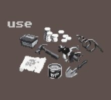 Monkey Island Inventory (grayscale) T-Shirt
