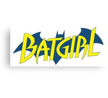 Batgirl logo Canvas Print