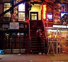 Night Lights - East Village - New York City by Vivienne Gucwa
