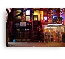 Night Lights - East Village - New York City Canvas Print