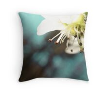 Bradford Pear Flower Throw Pillow