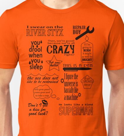 Heroes of Olympus Quotes Unisex T-Shirt