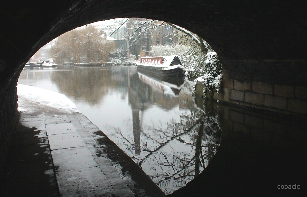 Wintery Regents Canal by copacic