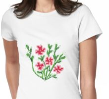 Potty poppies Womens Fitted T-Shirt